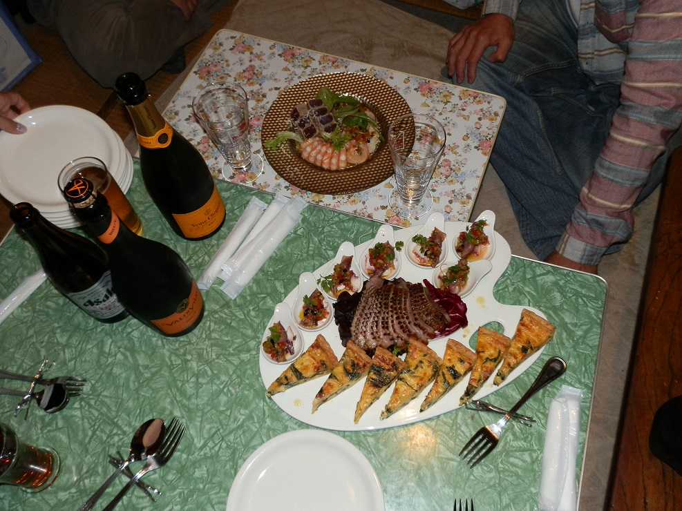 浦村牡蠣食べ放題をせず、フレンチパーティーをしたようだ